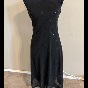 The Limited Black Sequin Dress